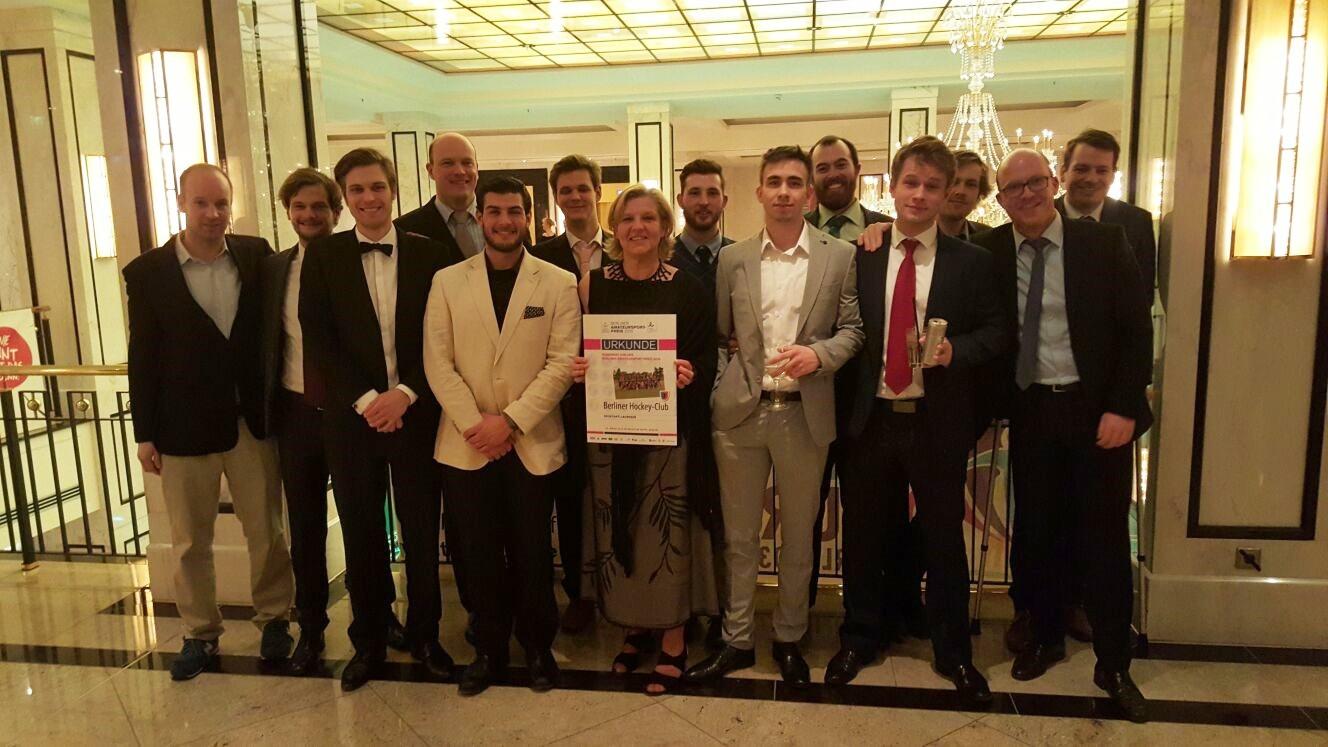 Lacrosse Herren bei der Night of Sports – Verleihung des Berliner Amateursportpreises