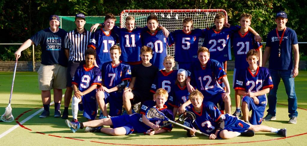Das starke Lineup der Lacrosse Jugend