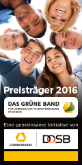 """So sehen Sieger aus! Der BHC erhält  """"das Grüne Band für vorbildliche Talentförderung im Verein"""" von DOSB und Commerzbank"""