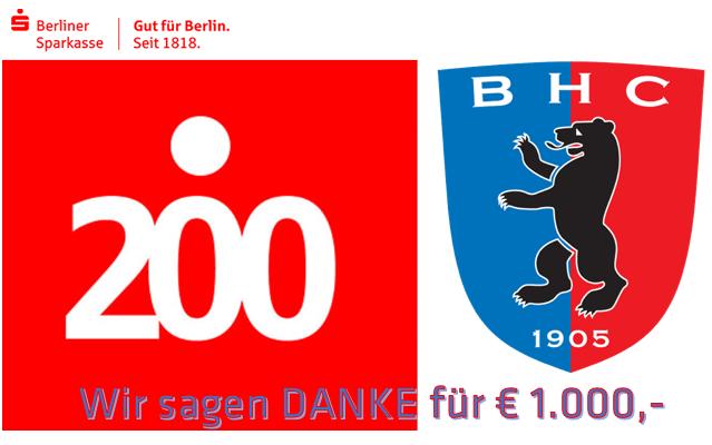 BHC gewinnt € 1.000,-