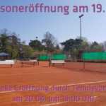 Eröffnung Tennisplätze am 19.04.2018