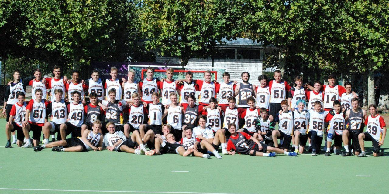 8 Lacrosser bei Nationalmannschaftsmaßnahme in Frankfurt