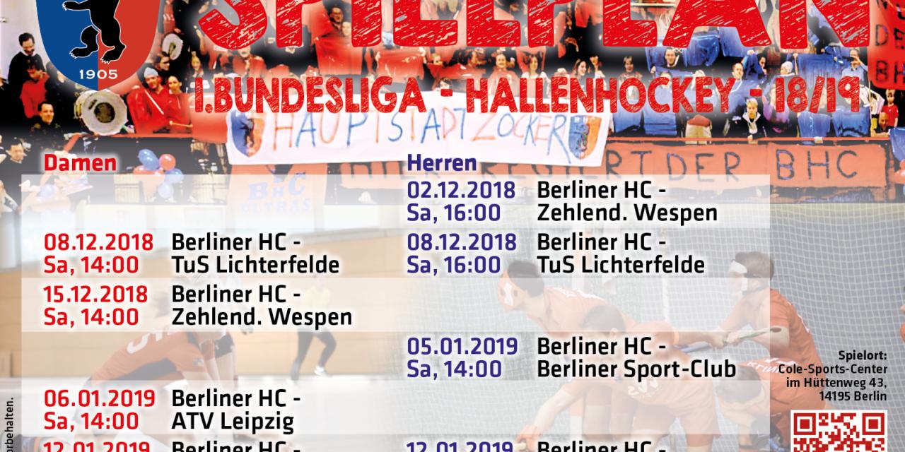 Spielplan & Tickets – Hallensaison 2018/19