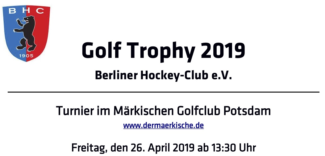 BHC Golf-Trophy 2019
