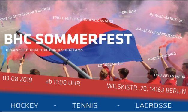 BHC-Sommerfest am 03. August
