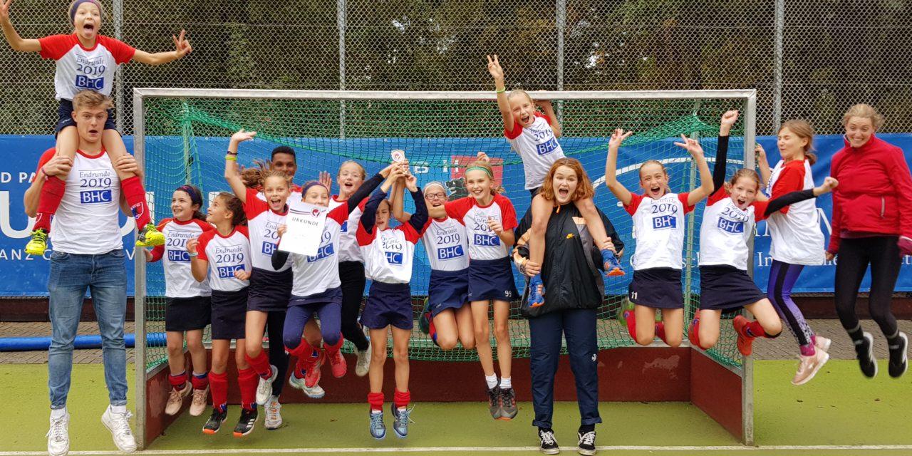 Mädchen C 2009 gewinnen sensationell die B-Liga