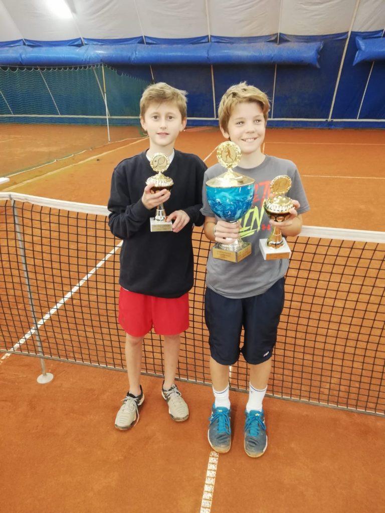 U14 Clubmeister Henri Randebrock (rechts) gegen Henry Heß