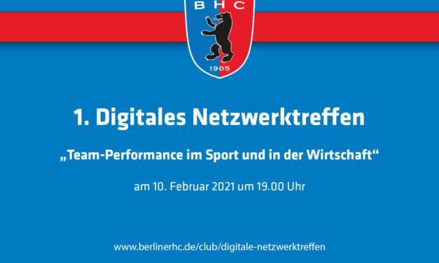 1. Digitales Netzwerktreffen